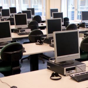 Computer facilities in the library