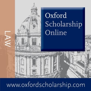 Over 35 new legal e-books available via Oxford Scholarship Online