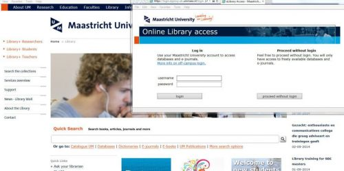 Current Online Library login screen