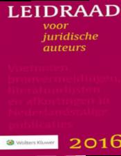 Leidraad voor juridische auteurs 2016