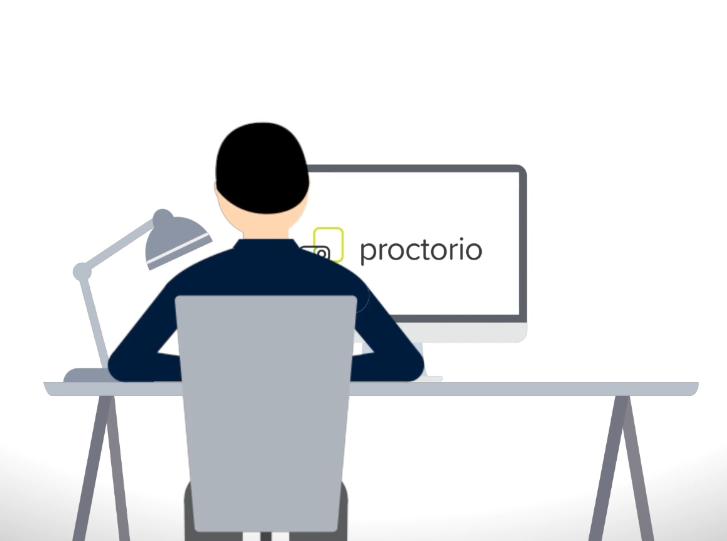 Instruction video exam in Proctorio