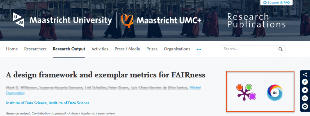Pure feature altmetrics
