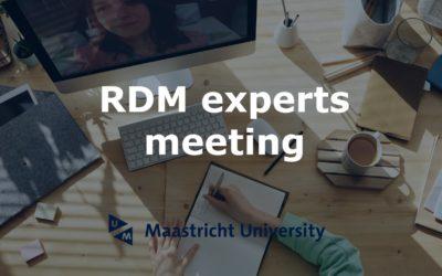 RDM experts meeting – 12 January 2021