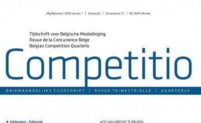 Nieuw in de collectie van de Universiteitsbibliotheek: Competitio, het Tijdschrift voor Belgische Mededinging [Dutch only]