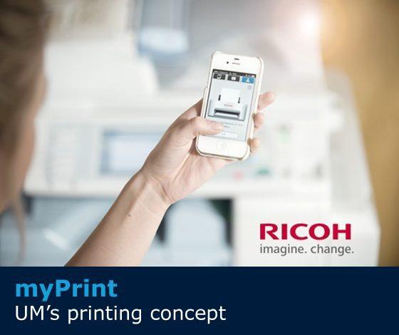 myPrint: UM's printing concept