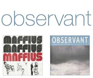Wie schrijft die blijft: lancering compleet gedigitaliseerde Observant jaargangen