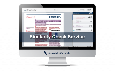 Similarity Check Service: prevent sloppy referencing or plagiarism